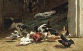 Генриетта Роннер-Книп. Щенок на скотном дворе