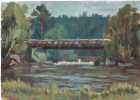 Arkady Pavlovich Laptev. Wooden bridge