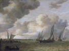 River estuary with sailing boats