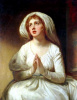 Lady Hamilton in prayer