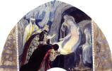 Михаил Васильевич Нестеров. Рождество (Поклон царей). Эскиз росписи северной стены церкви во имя благоверного князя Александра Невского