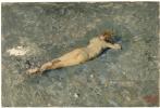 Обнаженный мальчик на пляже в Портичи