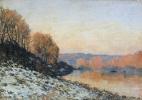 Альфред Сислей. Сена в Буживале зимой