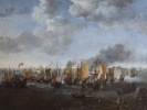 A battle between Dutch ships and Chinese pirates 9 Feb 1630