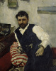 Portrait of the artist Konstantin Korovin