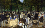 Edouard Manet. Music in the Tuileries gardens