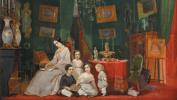 Портрет княгини Юлии Федоровны Куракиной, жены художника, с четырьмя детьми