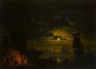 Вход в Палермский порт при лунном свете