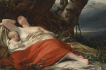 Sleeping fisherwoman. 1834