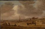 Ян ван Гойен. Пляж с рыболовными судами