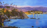 Natalia Emilovna Vodenicharova. California Laguna beach by night.