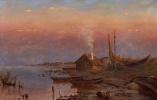 Юлий Юльевич Клевер. Рассвет на озере