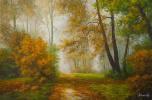 Савелий Камский. Пейзаж маслом Осень