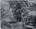 Пейзаж с сидящей парой и пастухами