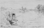 Шарль-Франсуа Добиньи. Мальчик-лодочник удит рыбу
