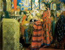 Russian women of the 17th century in the Church
