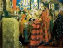 Русские женщины 17 столетия в церкви