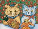 Кошки с куклами