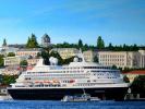 Вид на пассажирский порт и центральный городской холм(Севастополь)