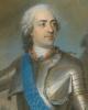 Портрет Людовика XV в доспехах перед Турне