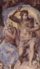 Last judgment, fresco the altar wall of the Sistine chapel, detail: Christ with Mary