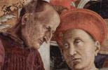 Андреа Мантенья. Двор Гонзага, фрагмент: герцог Лодовико Гонзага беседует с секретарем Марсилио Андреази. Камера дельи Спози, палаццо Дуккале