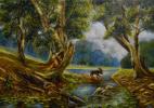 Владимир Иванович Осипов. Moose, 60 - 40, oil, 10.17 g. ©
