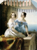 Portrait of Maria Nikolaevna and Olga Nikolaevna