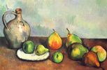 Paul Cezanne. Still life with jug and fruits