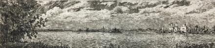 """Alexey Vladimirovich Kupreychenko. Landscape with """"Nero"""" lake"""