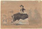 Эжен Буден. Женщина в Кринолине на пляже Трувиля