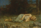 Алексей Алексеевич Харламов Россия 1840 - 1923. Отдыхающая девушка.