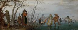 Адриан ван де Венне. Зима (Развлечения на льду)