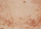 Антуан Ватто. Спасение младенца Моисея из воды