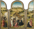The adoration of the Magi. Triptych