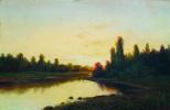 Ефим Ефимович Волков. Закат на реке
