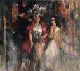 "Girls from Venice. The triptych ""Venezia"" (Central part)"