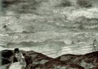 Сергей Юрьевич Судейкин. Влюбленные при луне. Эскиз декорации к постановке пьесы Весеннее безумие О. Дымова. 1910