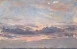 John Constable. Cloudy sky. Sunset. Sketch
