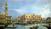 Giovanni Antonio Canal (Canaletto). A view of the Cathedral of St. Mark and the Doge's Palace in Venice