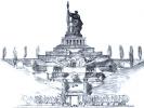 A sketch of the memorial on Mamaev Kurgan.