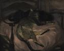 Two slumbering cats