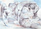Уильям Блейк. Наказание воров. Иллюстрация к «Божественной комедии» Данте