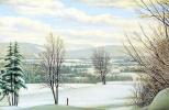 Леви Уэллс Прентис. Зимний пейзаж