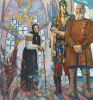 """An ancient tale. The right part of the triptych """"Alexander Nevsky"""""""
