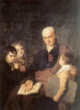 Portrait of Kirill Ivanovich Golovachevsky, inspector of the Academy of fine arts, with three pupils