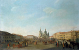 Бенжамен Патерсен. Вид Сенной площади в Петербурге