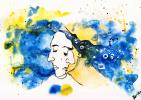 Daria Nurtazina. Blue and yellow