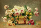 Emile Vernon. Still-life with roses. 1902