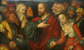 Лукас Кранах Младший. Христос и грешница. 1545